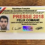 FÉLIX COMANE, PROMO 2017