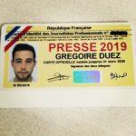 GRÉGOIRE DUEZ, PROMO 2018